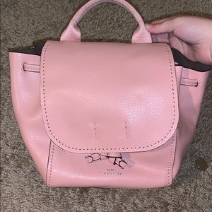 Pink Coach Mini Backpack (transforms to crossbody)